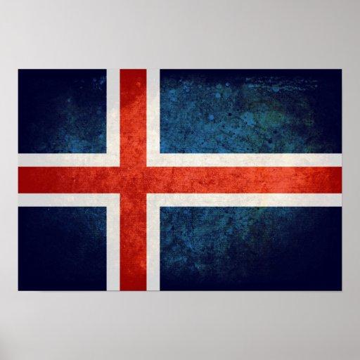 Bandeira de Islândia Impressão