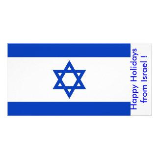 Bandeira de Israel, boas festas de Israel Cartão Com Foto