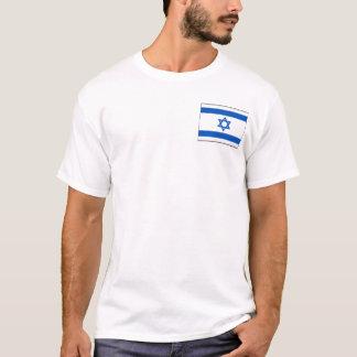 Bandeira de Israel e t-shirt do mapa Camiseta