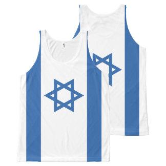Bandeira de Israel Regata Com Estampa Completa