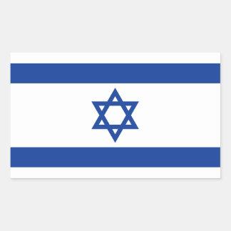 Bandeira de Israelian da etiqueta do retângulo de