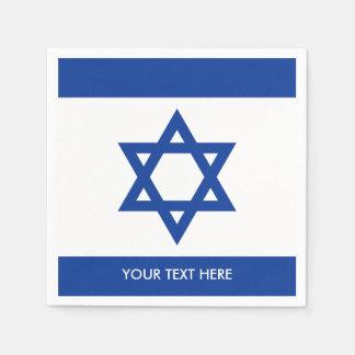 Bandeira de Israelian de guardanapo feitos sob