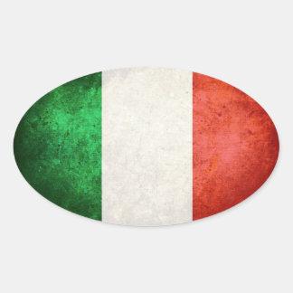 Bandeira de Italia Adesivos Ovais