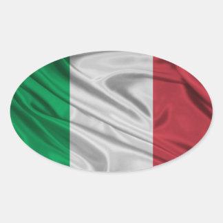 Bandeira de Italia Adesivo Oval