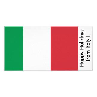 Bandeira de Italia, boas festas de Italia Cartão Com Foto