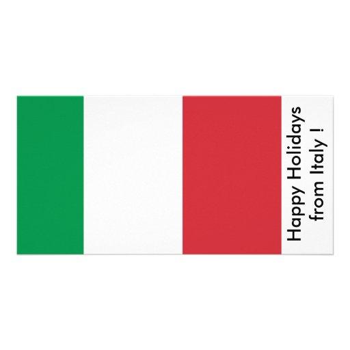 Bandeira de Italia, boas festas de Italia Cartões Com Fotos