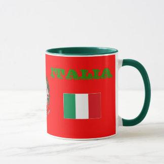 Bandeira de ITALIA & caneca da brasão