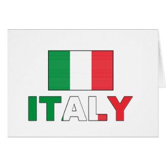 Bandeira de Italia Cartão Comemorativo
