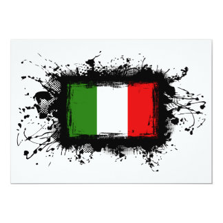 Bandeira de Italia Convite 12.7 X 17.78cm