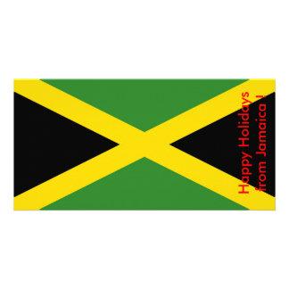 Bandeira de Jamaica, boas festas de Jamaica Cartão Com Foto