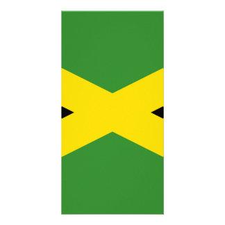 Bandeira de Jamaica Cartão Com Foto