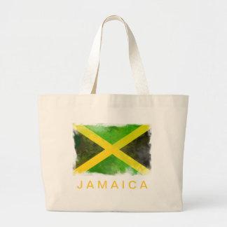 bandeira de jamaica - raizes da reggae sacola tote jumbo