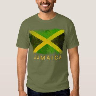 bandeira de jamaica - raizes da reggae t-shirts