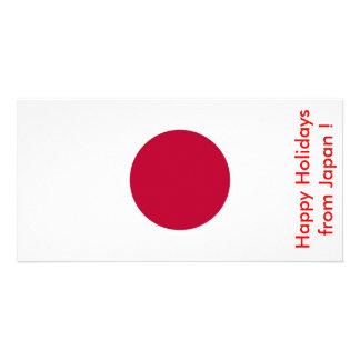 Bandeira de Japão boas festas de Japão Cartões Com Fotos