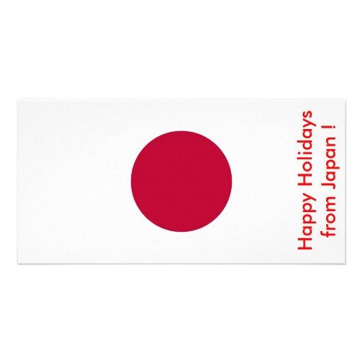 Bandeira de Japão, boas festas de Japão Cartões Com Fotos