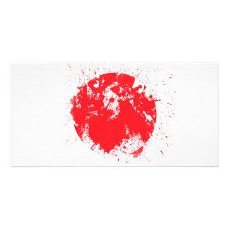 Bandeira de Japão Cartao Com Foto Personalizado
