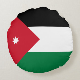 Bandeira de Jordão Almofada Redonda