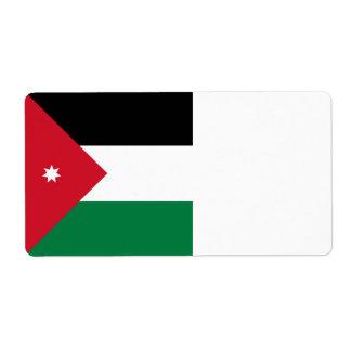 Bandeira de Jordão Etiqueta De Frete