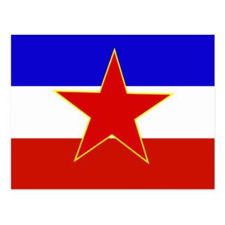 Bandeira de Jugoslávia Cartão Postal