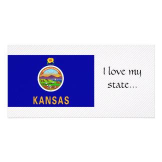 Bandeira de Kansas Cartão Com Fotos