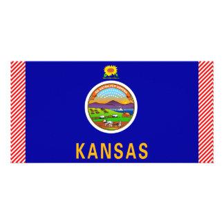 Bandeira de Kansas Cartao Com Foto Personalizado