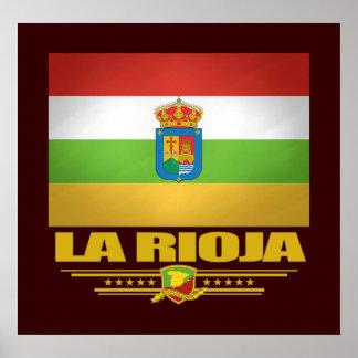 Bandeira de La Rioja Pôster