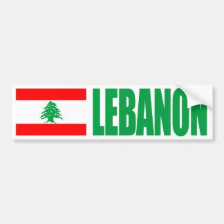 Bandeira de Líbano Adesivo Para Carro