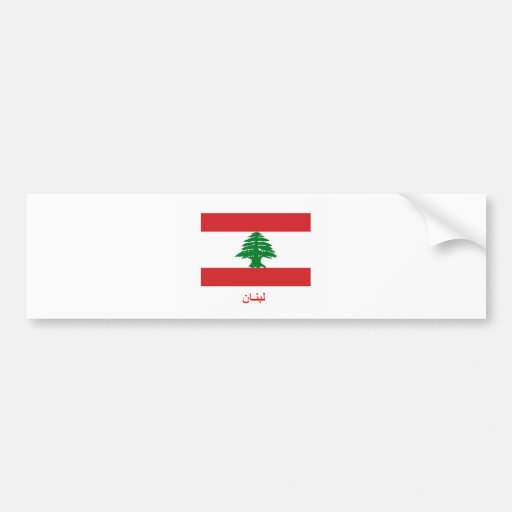 Bandeira de Líbano Adesivos