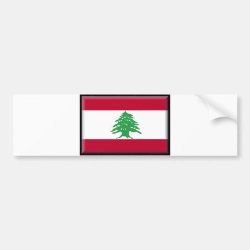 Bandeira de Líbano Adesivo