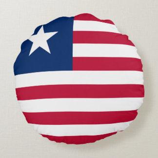Bandeira de Liberia Almofada Redonda