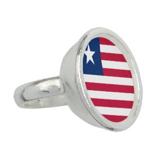 Bandeira de Liberia Anel