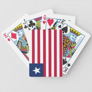 Bandeira de Liberia Baralhos De Poker