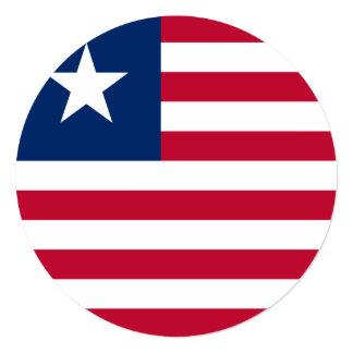 Bandeira de Liberia Convite Quadrado 13.35 X 13.35cm