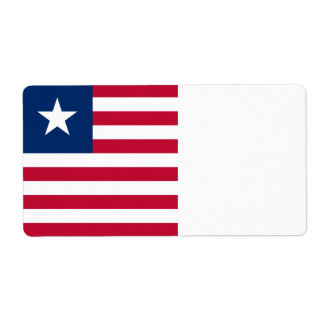 Bandeira de Liberia Etiqueta De Frete