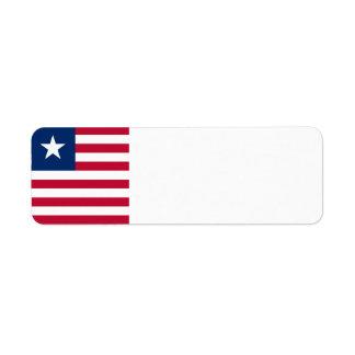 Bandeira de Liberia Etiqueta Endereço De Retorno