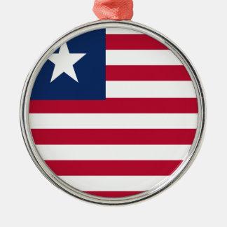 Bandeira de Liberia Ornamento De Metal
