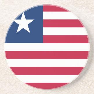 Bandeira de Liberia Porta-copos De Arenito