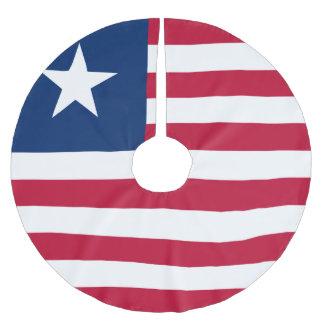 Bandeira de Liberia Saia Para Árvore De Natal De Poliéster