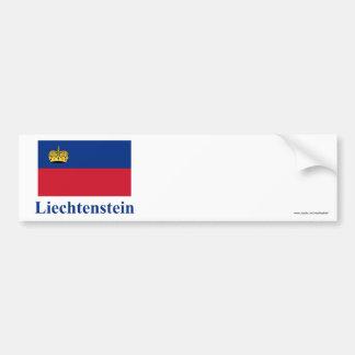 Bandeira de Liechtenstein com nome Adesivo Para Carro