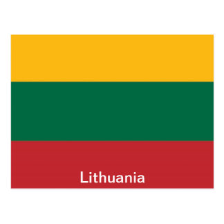 Bandeira de Lithuania Cartão Postal