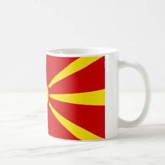 Bandeira de Macedónia Caneca De Café