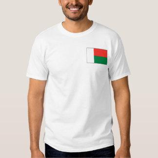 Bandeira de Madagascar e t-shirt do mapa