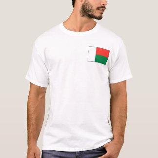 Bandeira de Madagascar e t-shirt do mapa Camiseta