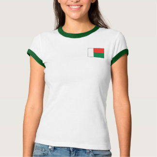 Bandeira de Madagascar + T-shirt do mapa Camiseta