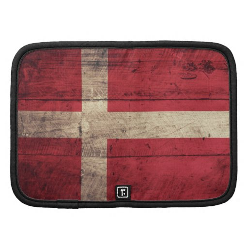 Bandeira de madeira de Dinamarca Organizador