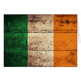 Bandeira de madeira de Ireland Cartão De Nota