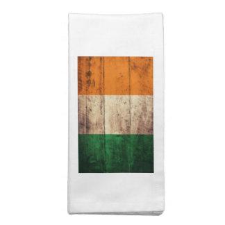 Bandeira de madeira de Ireland Guardanapo De Pano