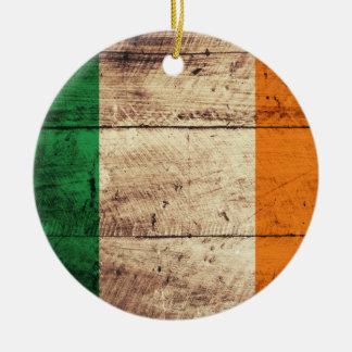 Bandeira de madeira de Ireland Enfeites Para Arvores De Natal