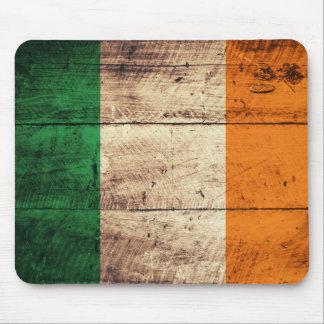 Bandeira de madeira de Ireland Mousepad