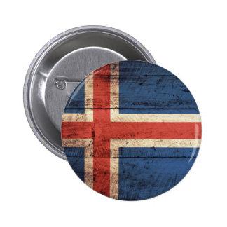 Bandeira de madeira de Islândia Botons